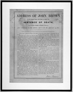 Address of John Brown to the Virginia Court