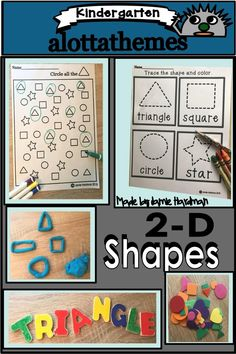 his 2D math resource is great when introducing the concept of shapes during your math lesson for preschool, kindergarten gr. 1 and homeschoolers. These printable worksheets are great activities that can be used as centers, games. review & assessments in teaching an understanding and identifying 2D shapes. This worksheet alternative for kids is a fun , engaging way to practice the math concept Shapes.#alottathemes #mathcenters #shapes Activity Centers, Math Centers, Early Childhood Activities, Math Concepts, Kindergarten Activities, Printable Worksheets, Math Resources, Student Learning, Math Lessons