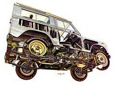 Land Rover 88 cutaway