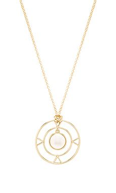House Of Harlow House of Harlow The Four Elements Pendant Necklace in Metallic Gold AlALKg