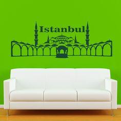 Wandtattoo Sultan Ahmet Camii Als Wandtattoo Istanbul   Einzigartig Eigenes  Design Von Wandtattoo Kiwi