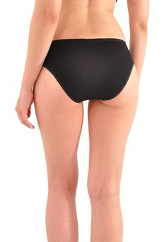 45bdaefbee4e A Kabbaz-Kelly Design: Pure Grace Italian Mini-Rib Cotton Bikini Panty