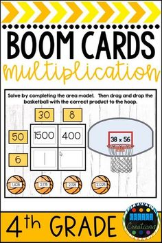 Mar 26, 2020 - Save time and gather data with this NO PREP 1 and 2-digit multiplication activity perfect for math centers! Whether it's March Madness or any time of year, your students will LOVE playing multiplication basketball! This is ideal for test prep as questions include both single and double-digit multiplication. Students can choose their own method for single-digit multiplication questions but will complete area models for double-digit multiplication questions.
