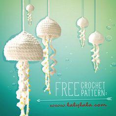 lalylala » free jellyfish pattern