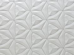 Cruck 3d wandfliesen design wohnbereich weiß geometrisch