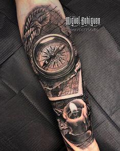Miguel Bohigues Tattoo bei V Tattoo, Tattoo Studio in Valencia. - Miguel Bohigues Tattoo bei V Tattoo, Tattoo Studio in Valencia. Simple Hand Tattoos, Hand Tattoos For Guys, Cool Forearm Tattoos, Body Art Tattoos, Tattoo Art, Ship Tattoo Sleeves, Arm Sleeve Tattoos, Tattoo Sleeve Designs, Tattoo Designs Men