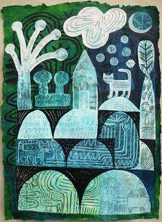 Garden at Night by Hilke MacIntyre