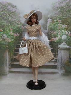 Dress Marie-Luce held for Barbie Silkstone Fashion by F3788