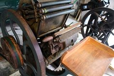 Golding Jobber No.6 made in 1904. Moontree letterpress acquired and repaired them.