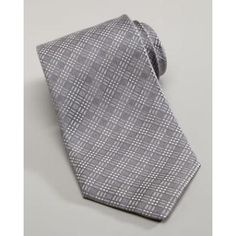 $220, Tonal Plaid Tie Silver by Charvet. Sold by Neiman Marcus. Click for more info: http://lookastic.com/men/shop_items/135940/redirect