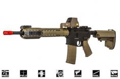 Black Rain Ordnance Fallout 15 Recon Battle Rifle AEG Airsoft Gun by King Arms ( Black / Dark Earth )