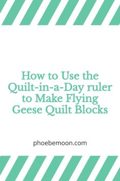 Old Quilts, Easy Quilts, Flying Geese Quilt, Quilt In A Day, Pattern Designs, Moon Design, Quilting For Beginners, Quilt Making, Ruler