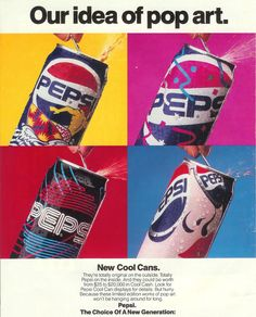 1990-Pepsi cans. Hd them all. For some reason i thought they were so cool
