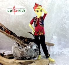 Feurig 3 Teile Monster High Jungs Heat Burns 3 tlg  6814028 Puppenkleid Adventskalenderfüllung