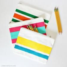 Painted Zipper Pouches with DecoArt Stylin by Jaime Costiglio