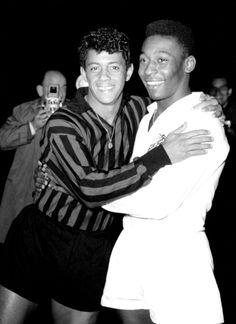 Pelé et Amarildo 1963