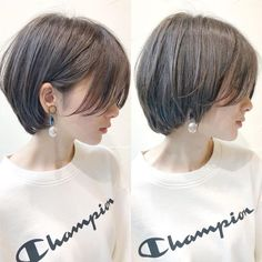 Tomboy Hairstyles, Pretty Hairstyles, Bob Hairstyles, Asian Short Hairstyles, Girl Short Hair, Short Hair Cuts, Shory Hair, Korean Short Hair, Japanese Short Hairstyle