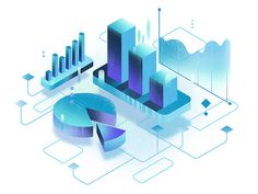 Data illustration designed by Ewa Geruzel. Connect with them on Dribbble; Web Design Logo, Graphic Design Tips, Web Design Trends, Graphic Design Inspiration, Ux Design, Game Design, Chart Design, Icon Design, Isometric Art