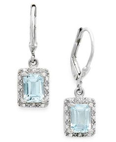 StyleRocks Hydrothermal Emerald, Emerald Cut Silver Drop Earrings