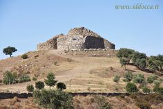 A view of Nuraghe Nolza. It is a quadrilobate nuraghe.