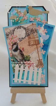 Tinyrose's Craft Room: A tag made with ephemera from Linda Simpson designs Emerald City, Ephemera, Decorative Boxes, Challenges, Crafty, Blog, Cards, Design