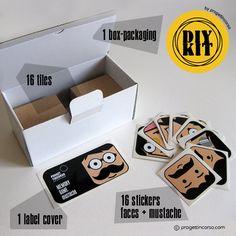 DIY KIT: memory game mustache by progettincorso