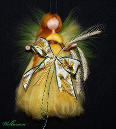 ❁ Ähren Fee ❁ Märchenwolle Fee / Elfe Jahreszeitentisch Dekoration