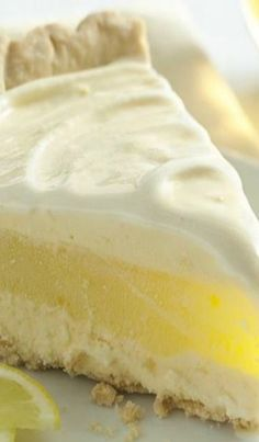 Lemon Layer Ice Cream Pie