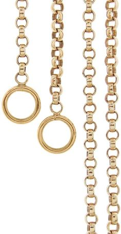 Marla Aaron Rolo Chain Necklace - Yellow Gold #Sponsored , #ad, #Rolo#Aaron#Marla