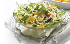 Liven up your winter with this fresh salad. #salad #healthyrecipes #healthyeating