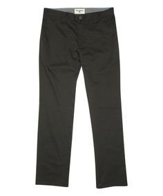 Black Carter Chino Straight-Leg Pants - Boys