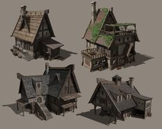 Pin by wenbin90 wenbin90 on 场景物件2 Medieval houses Fantasy house Building concept