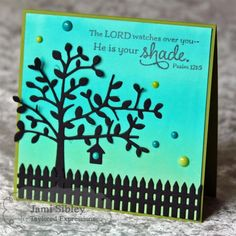 He is Your Shade Card by Jami Sibley #Cardmaking, #Faith, #Silhouettes