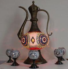 MOSAIC pitchers Ottoman Design, Decorative Bells, Mosaic, Home Decor, Decoration Home, Room Decor, Mosaics, Home Interior Design, Home Decoration