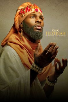 "HEZEKIAH.  ///  ""Icons of the Bible"" by photographer James C. Lewis of Noire3000 / N3K Photo Studios"