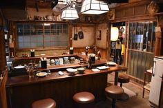Japanese Restaurant Interior, Japanese Interior, Restaurant Interior Design, Cafe Interior, Japanese Coffee Shop, Japanese Bar, Japanese Design, Traditional Japanese House, Ramen Bar