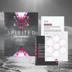 Spirited 2015 Companion: Spirited Solutions to What's Holding You Back - Rachel MacDonald Brand Identity, Branding, Print Packaging, Your Back, Weekly Planner, Magazine Design, Editorial Design, Online Marketing, Hand Lettering