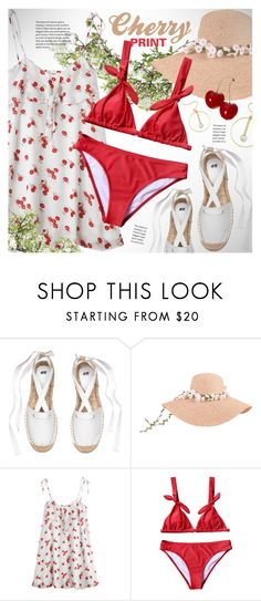 """Sweet cherry print dress"" by vn1ta on Polyvore"