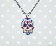 Sugar Skull Necklace and Brooch! by TheBoutiqueBizarre 10.00 USD