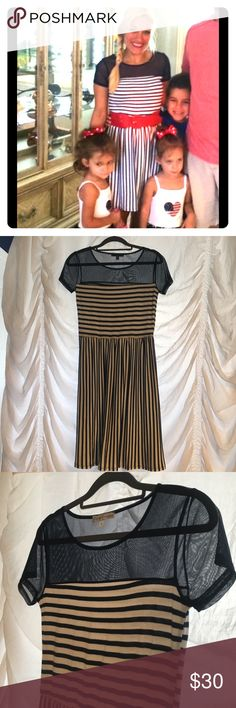 Sailor striped dress Fun in the sun! I wore this on the fourth of July and it was perfect. Belt not included Dresses Midi
