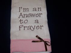 Personalized/Embroidered Burp Cloth