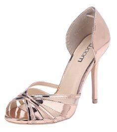 b3395e5bb2d Womens Ladies Metallic High Stiletto Heel Peep Toe Platform Fashion Dressy  Pumps Court Shoes - D20 (UK 3   EU 36