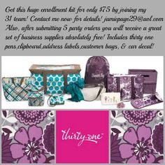 Thirty one Gifts fall 2013 kit.   www.mythirtyone.com/20942 https://www.facebook.com/pages/Denas-Marykay-Page/585075904854726
