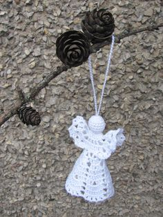 Crochet angel Christmas ornament Home decor A19 by InKasTrifles