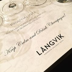 On Saturdays during the LÅNGWEEKENDs, we offer the opportunity to explore the taste of champagne in the guidance of a professional. http://www.langvik.fi/en/champagne-tasting   Photo from jonna_nordiccitylife