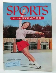 Carol Heiss on the front of Sports Illustrated, 1955