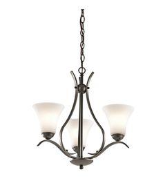 Kichler Keiran 3 Light Chandelier in Olde Bronze 43503OZ #lightingnewyork #lny #lighting STAIRS