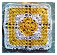 April – Square Eight   Stitched In Love Crocheting