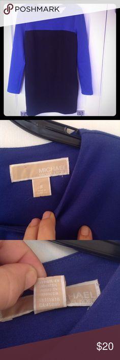 Michael Michael Kors Dress Size 8 Blue Black Pre-owned and gently used. MICHAEL Michael Kors Dresses Midi