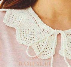 Lace Collar, Knit Crochet, Crochet Patterns, Knitting, Sorting, Tops, Women, Board, Fun